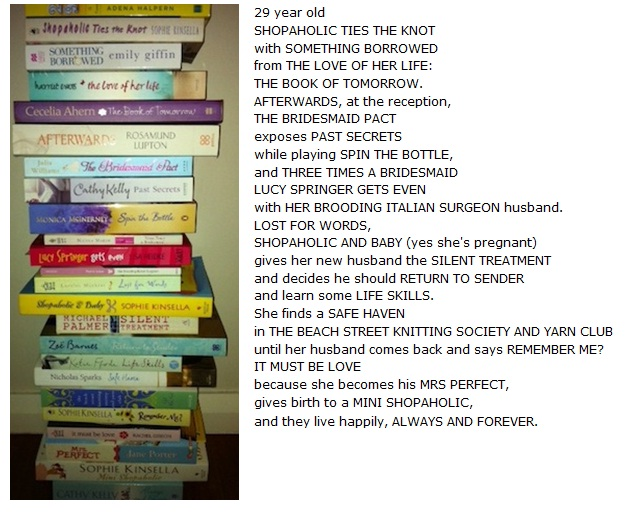 My poem made from book titles! | JULIET MADISON